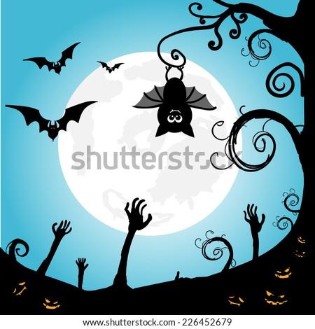 halloween background gnarled tree owl spooky stock vector 226452679 rh shutterstock com Scary Eyes Clip Art Funny Eyes Clip Art