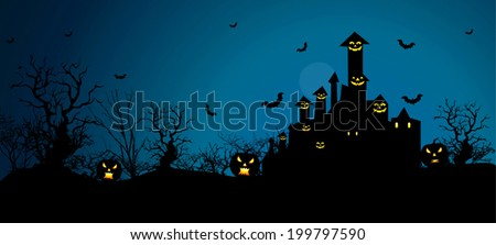 Halloween Background in VECTOR/ Eps10, Useful BG for your designs.  Premium Quality, Genuine and Satisfaction, Easy to Edit  - stock vector