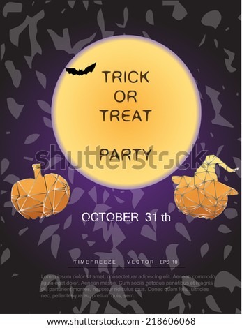halloween background party illustration design