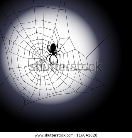 Halloween background - Vector illustration of spiders web - stock vector