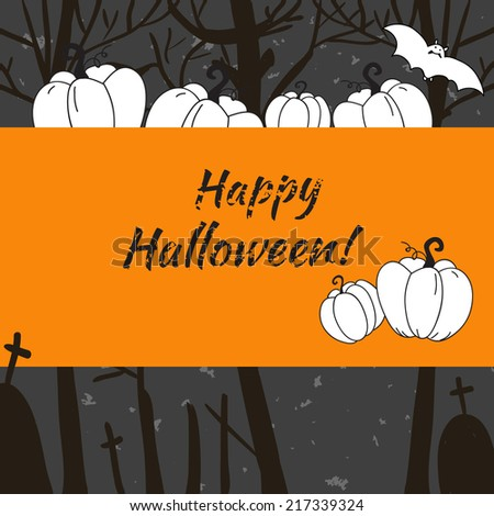 Halloween background. Vector. Place for text. Banner.