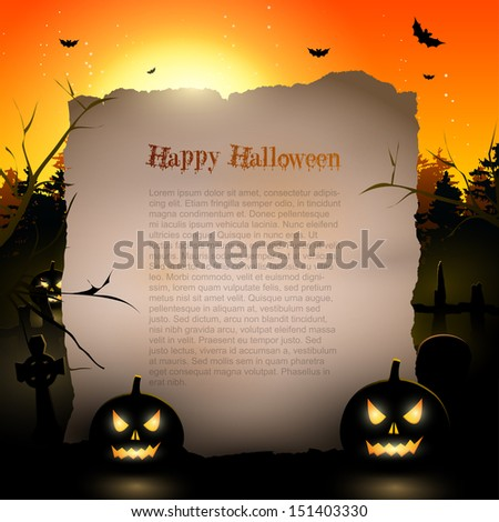 Halloween background with place for text  - stock vector