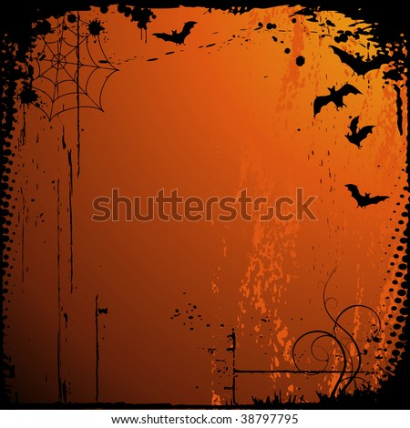 halloween background with place for your text - stock vector