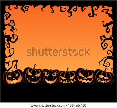 Halloween Background with pumpkin. vector illustration