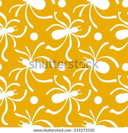 Halloween background with spiders.Vector illustration - stock vector