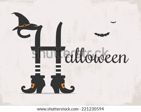 halloween background with typography  - stock vector