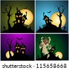 Halloween Backgrounds Vector Set - stock vector