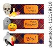 Halloween banners in english style - stock vector