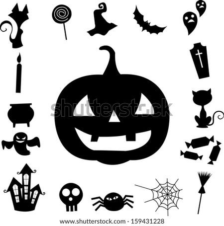 halloween border - stock vector