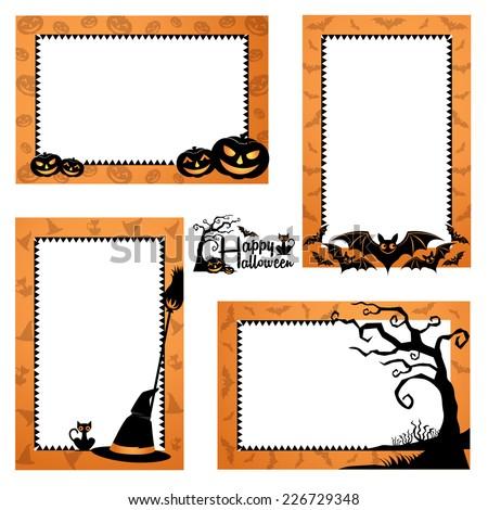 Halloween Border Design. Halloween Frames Design - stock vector