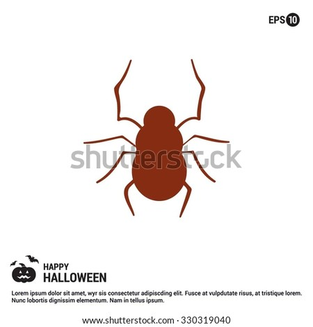 Halloween Bug icon. Halloween Flat icons.  simple minimal, flat, solid, mono, monochrome, plain, contemporary style. Vector illustration web internet design elements