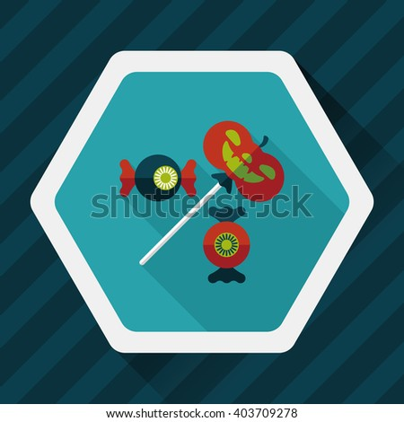 halloween candy flat icon with long shadow,eps10 - stock vector