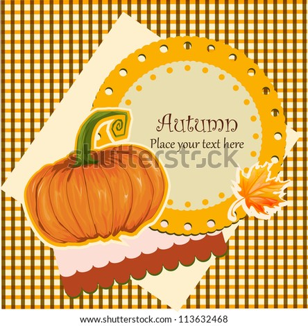 Halloween card illustration - stock vector