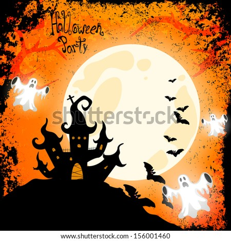 Halloween card - vector