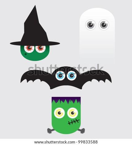 Halloween Cartoon Vectors - stock vector