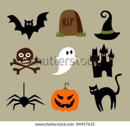 Halloween Cartoons Stock Vector 84497632 - Shutterstock