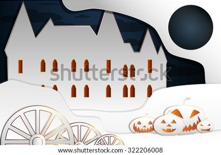 Halloween castle eps10 - stock vector