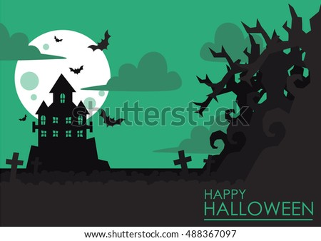 Halloween Castle In Vector 2
