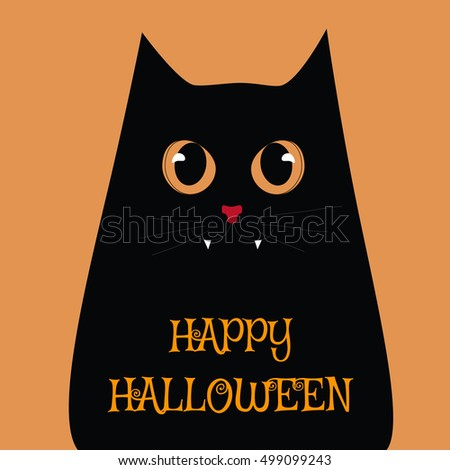 Halloween Cat Halloween Vector Illustrations Stock Vector ...