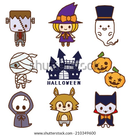 Halloween character - stock vector