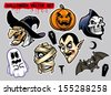 halloween character set - stock vector