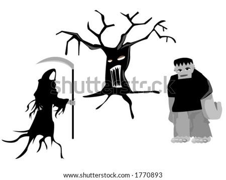 Halloween Characters - Vector - stock vector