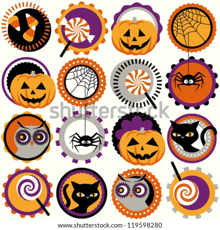 Halloween circles pattern
