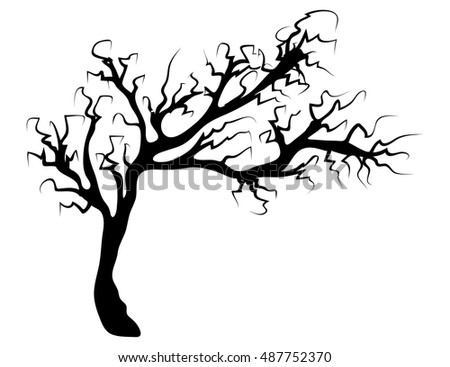 halloween creepy scary bare tree vector stock vector 2018 rh shutterstock com Spooky Swamp Clip Art Haunted Forest Clip Art