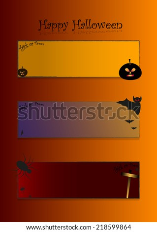 Halloween day background and banner tag label - stock vector