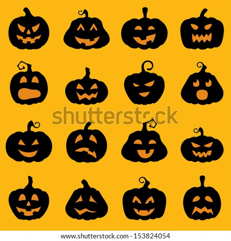 Image gallery jack o lantern cartoon border for Different pumpkin designs