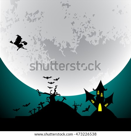 Halloween design background, vector illustration