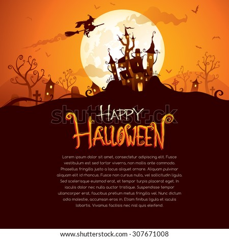 Halloween design with wide copy space - stock vector