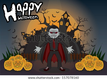 Halloween Dracula - stock vector
