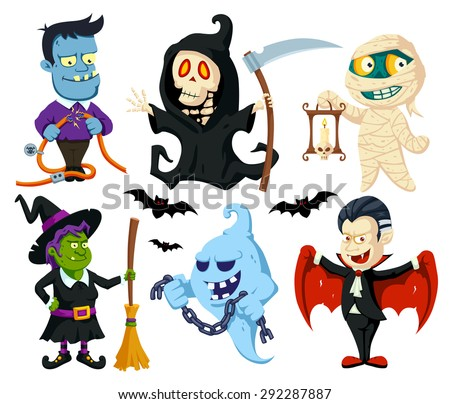 Halloween Characters Stock Images, Royalty-Free Images & Vectors ...