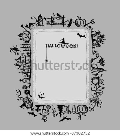 Halloween frame for your design - stock vector
