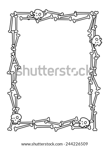 Halloween Frame Made Bones Stock Vector HD (Royalty Free) 244226509 ...