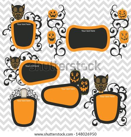 Halloween Frames Stock Vector 148026950 - Shutterstock