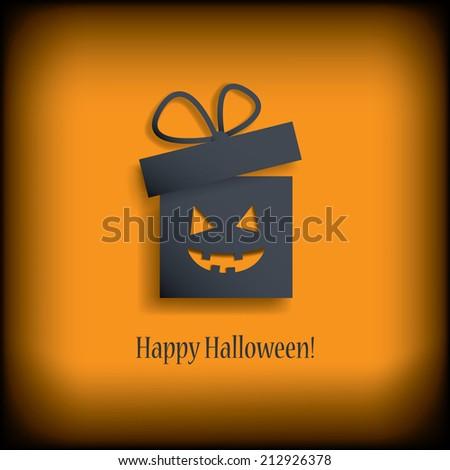 Halloween gift or voucher card. Eps10 vector illustration - stock vector