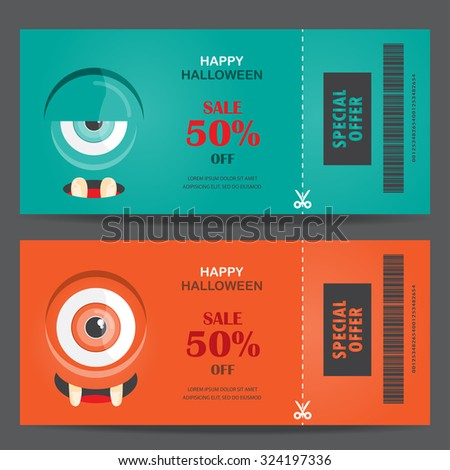Halloween gift voucher certificate coupon mo stock vector 2018 halloween gift voucher certificate coupon mo invitation party card background web page design yelopaper Images