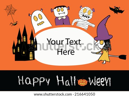Halloween greeting card with blank space for your text