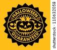 Halloween Guaranteed Pumpkin Seal - stock photo
