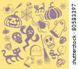 Halloween Holiday Design Elements - stock photo