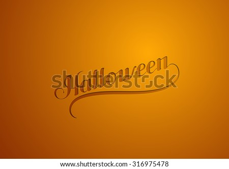 Halloween. Holiday Vector Illustration. Lettering composition - stock vector