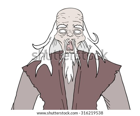 Halloween horror old man - stock vector