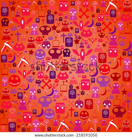 Halloween icon background, vector illustration