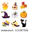 Halloween icon set - stock photo