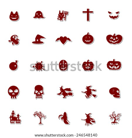 Halloween icon set 1 - stock vector