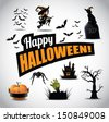 Halloween icon symbol design elements. EPS 10 vector, grouped for easy editing. No open shapes or paths. - stock vector