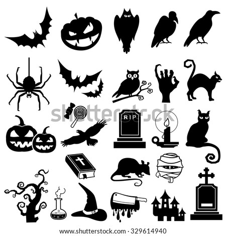 Halloween icon vector - stock vector