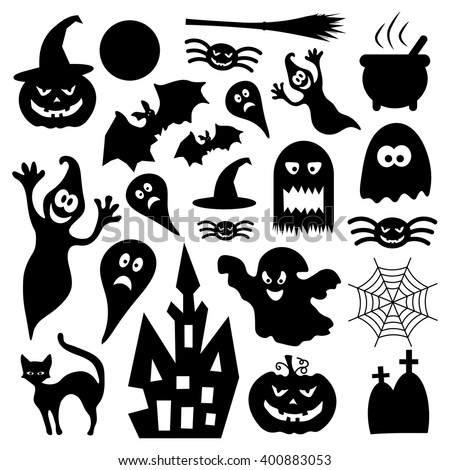 Halloween Icons Stock Vector 400883053 - Shutterstock